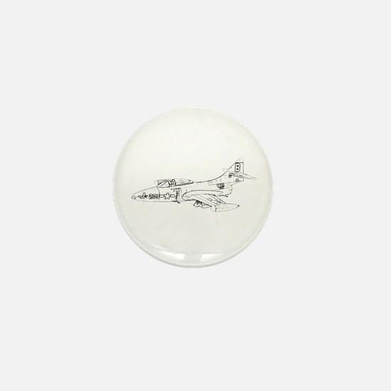 Grumman F9F Cougar Mini Button