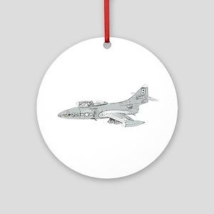 Grumman F9F Cougar Ornament (Round)