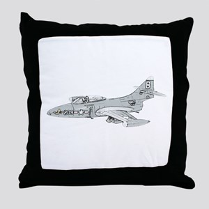 Grumman F9F Cougar Throw Pillow