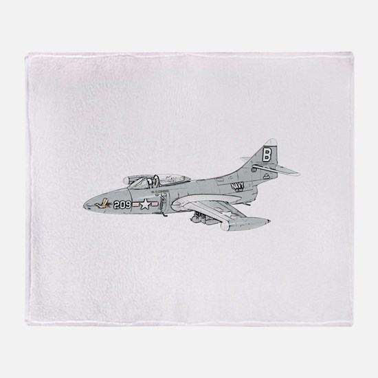 Grumman F9F Cougar Throw Blanket