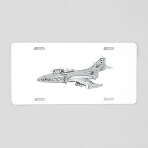 Grumman F9F Cougar Aluminum License Plate