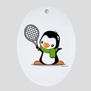 Tennis (70) Oval Ornament