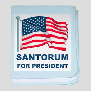 Santorum for president baby blanket