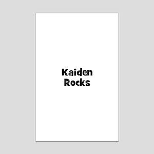 Kaiden Rocks Mini Poster Print
