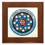 American Energy Independence Framed Tile