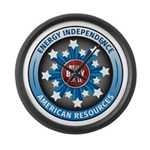 American Energy Independence Large Wall Clock