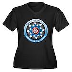 American Ene Women's Plus Size V-Neck Dark T-Shirt