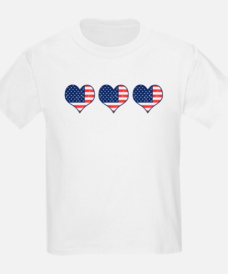 Little Patriotic Hearts Kids T-Shirt