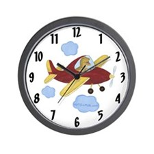 Airplane Clock - Dinosaur