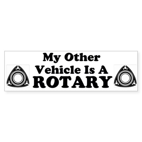 Other Vehicle is a Rotary sticker Sticker (Bumper)