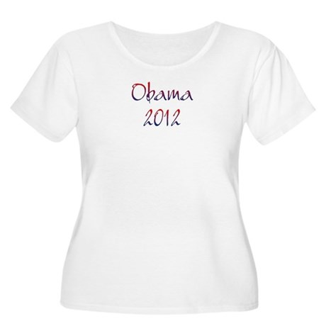 Obama 2012 Women's Plus Size Scoop Neck T-Shirt