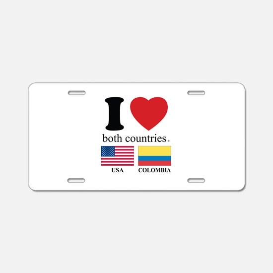 USA-COLOMBIA Aluminum License Plate