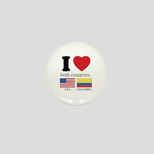 USA-COLOMBIA Mini Button