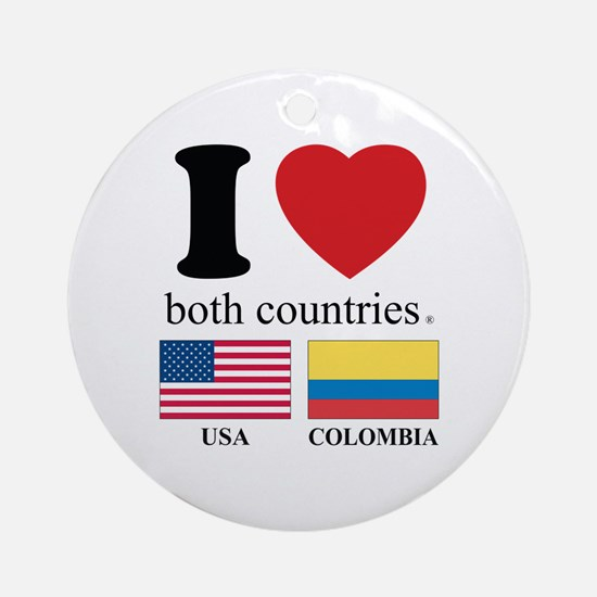 USA-COLOMBIA Ornament (Round)