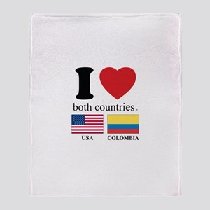 USA-COLOMBIA Throw Blanket