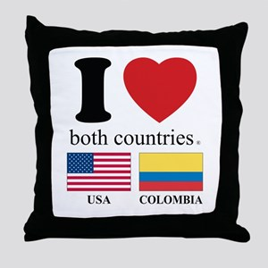 USA-COLOMBIA Throw Pillow