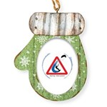 Warning - Kiters present Mitten Ornament