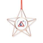 Warning - Kiters present Copper Star Ornament