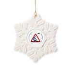 Warning - Kiters present Snowflake Ornament
