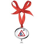 Warning - Kiters present Oval Year Ornament
