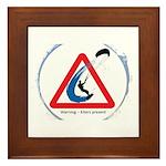 Warning - Kiters present Framed Tile