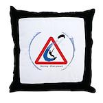 Warning - Kiters present Throw Pillow