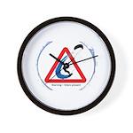Warning - Kiters present Wall Clock