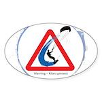 Warning - Kiters present Sticker