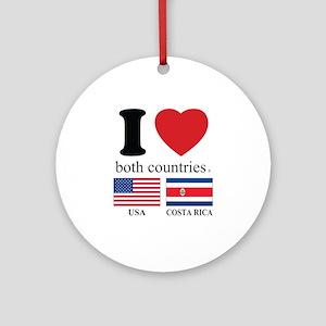 USA-COSTA RICA Ornament (Round)