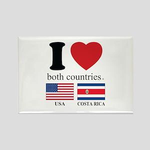 USA-COSTA RICA Rectangle Magnet