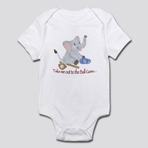 Baseball - Elephant Infant Bodysuit