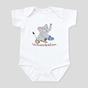 Baseball - Elephant Infant Bodysuit