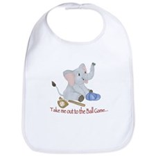 Baseball - Elephant Bib