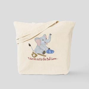 Baseball - Elephant Tote Bag