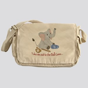 Baseball - Elephant Messenger Bag