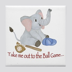Baseball - Elephant Tile Coaster