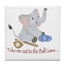 Baseball - Elephant Tile Coaster