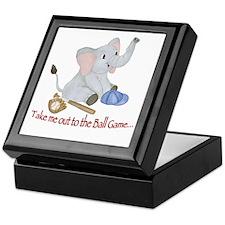 Baseball - Elephant Keepsake Box