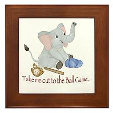 Baseball - Elephant Framed Tile