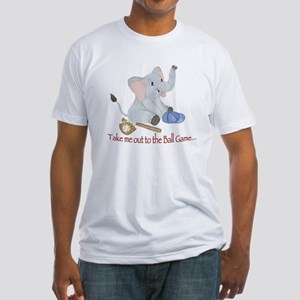 Baseball - Elephant Fitted T-Shirt