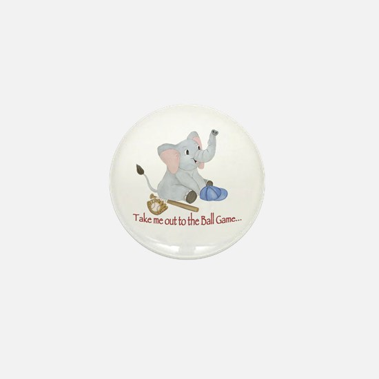 Baseball - Elephant Mini Button