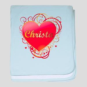 Christa Valentines baby blanket
