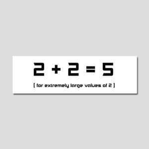 Extremely Large Twos Car Magnet 10 x 3