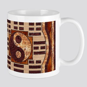 Wooden Yin-Yang and I-Ching 11 oz Ceramic Mug