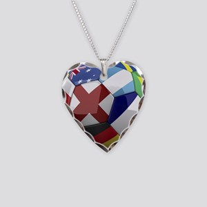 World Cup Fever Necklace Heart Charm