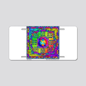 Yin-Yang and I-Ching Aluminum License Plate