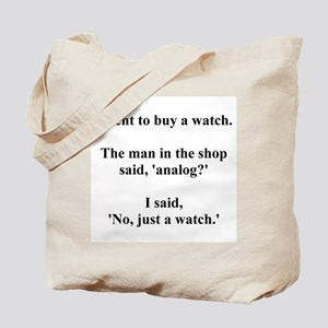 analog joke Tote Bag