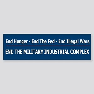 End Illegal Wars - Sticker (Bumper)