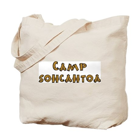Camp Sohcahtoa Trigonometry Tote Bag
