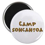 """Camp Sohcahtoa Trigonometry 2.25"""" Magnet (10"""